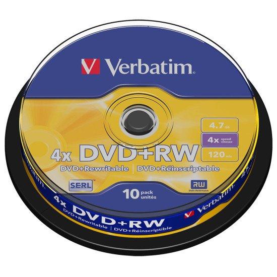 DVD vierge Verbatim DVD+RW 10p.