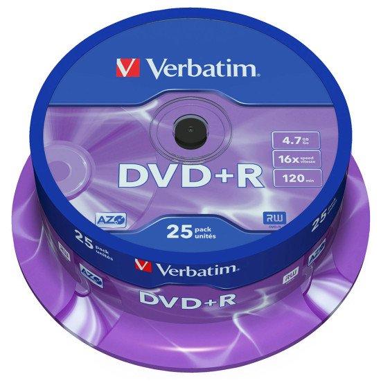 DVD vierge verbatim DVD+R 16x 25p.