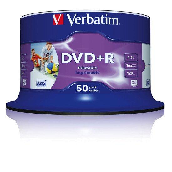 DVD vierge imprimable verbatim DVD+R 16x (boite de 50)
