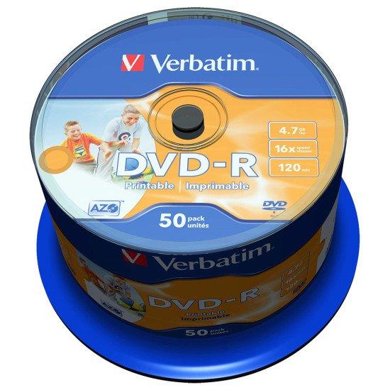 DVD vierge verbatim DVD-R 16x imprimable (boite de 50)
