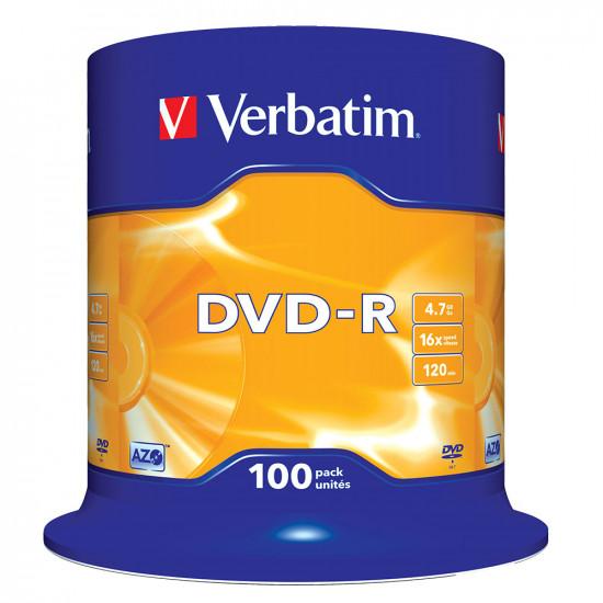 DVD vierge verbatim DVD-R 16x. (boite de 100)