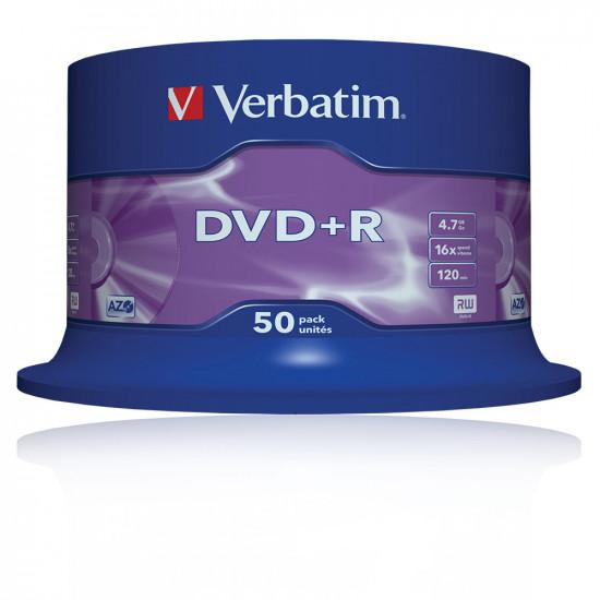 DVD vierge verbatim DVD+R 16x (boite de 50)