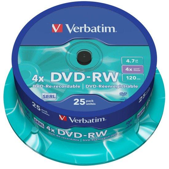 DVD vierge verbatim DVD-RW 4x 25p.