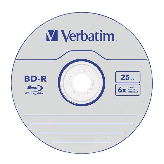 Verbatim Blu-ray vierge BD-R SL 6x 10p.