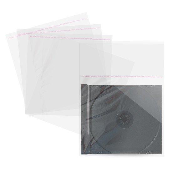 Pochette plastique pour boitier CD 10.4 mm 100p.