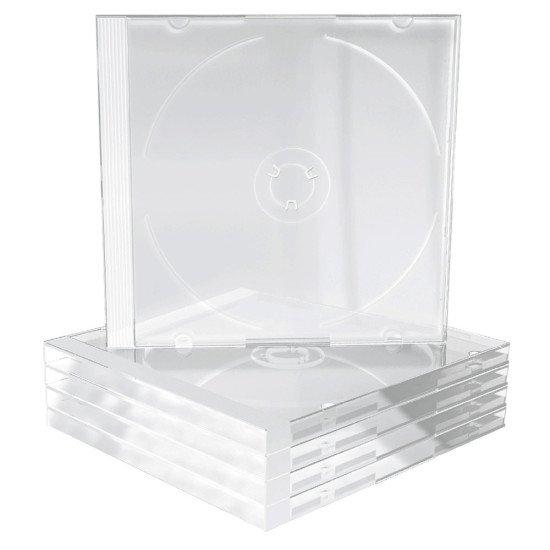 Boîtiers pour 1 CD transparents 5p.