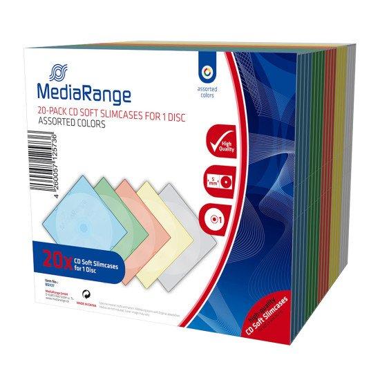 Boîtiers incassables couleurs pour CD 20p.