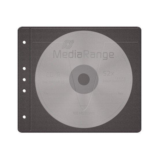 Pochette de rangement noire pour 2 CD ou DVD 50p.