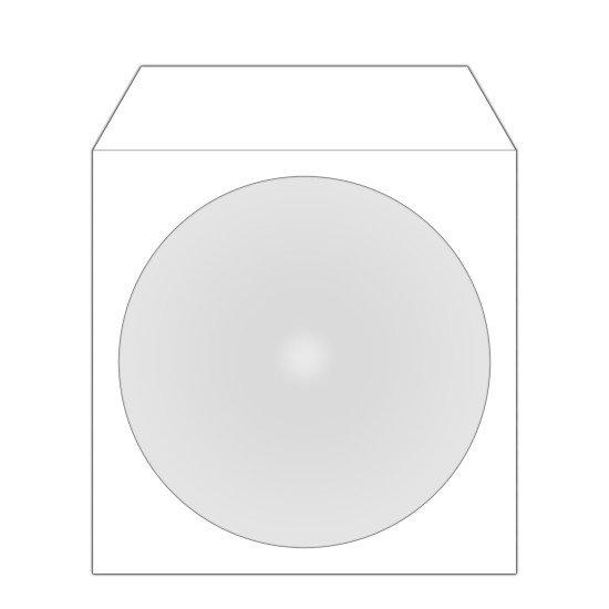 Pochette. papier à rabat adhésif pour CD ou DVD 100p.