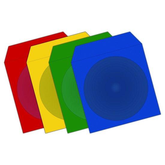 Pochette. papier pour CD/DVD 4 Couleurs 100p.