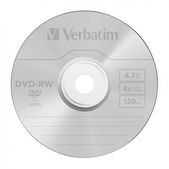 DVD vierge verbatim DVD-RW 4x 10p.