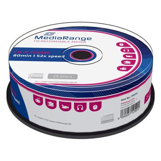 CD vierge mediarange 700MB 52x 25p.