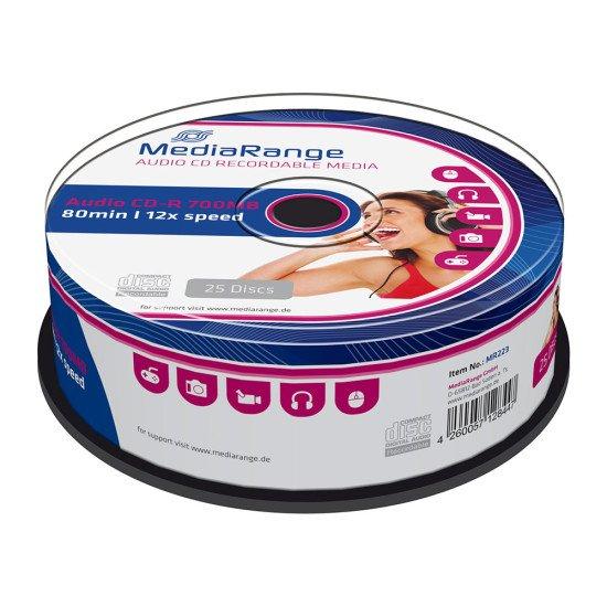 CD vierge audio Mediarange 700Mo 52x (boite de 25)