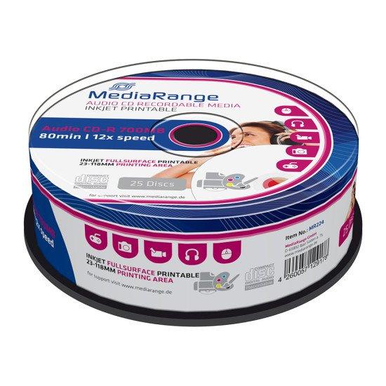 CD vierge mediarange audio imprimable 700Mo 52x (boite de 25)