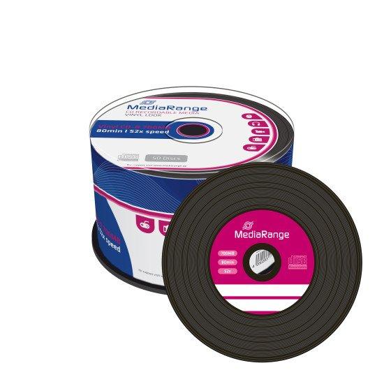 CD vierge Mediarange Vinyle 700Mo 52x 50p.