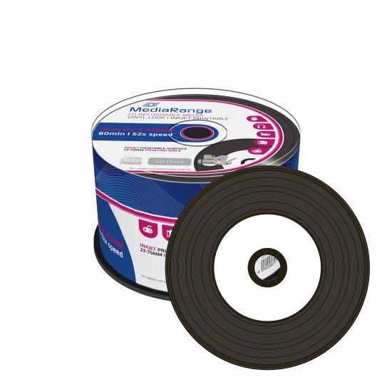 CD vierge Mediarange Vinyle imprimable 700Mo 52x 50p.