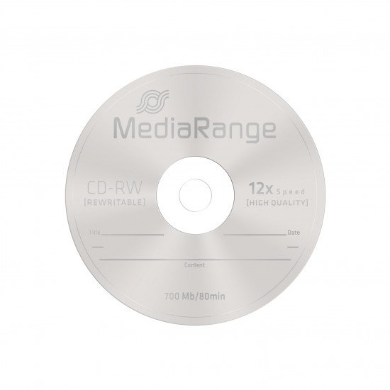CD vierge mediarange réenregistrable CD-RW 10p.