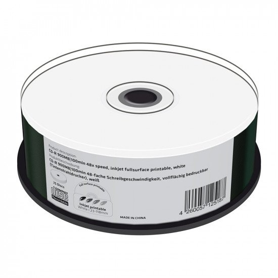 CD vierge mediarange 900Mo imprimable 25p.