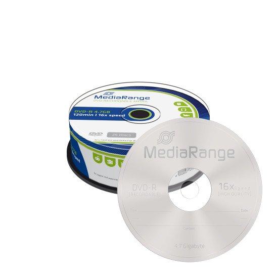 DVD vierge Mediarange DVD-R 16x 25p.