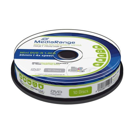 DVD vierge mediarange mini DVD-R 8cm imprimable pour camescope 10p.