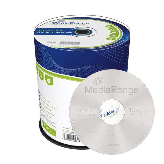 DVD vierge Mediarange DVD-R. 16x (boite de 100)