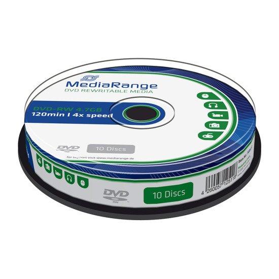 DVD vierge Mediarange DVD-RW 4x 10p.
