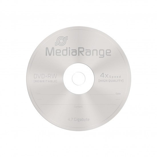 DVD vierge mediarange DVD+RW 4x 10p.