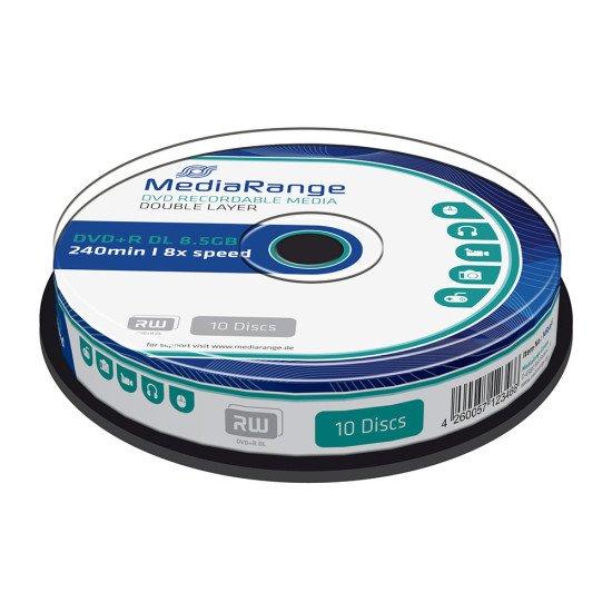 DVD vierge double couche Mediarange DVD+R DL 8x (Boite de 10)