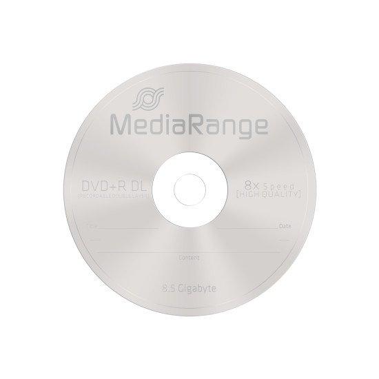 DVD vierge mediarange. dvd+r double couche 8x 25p.