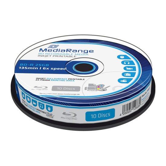 Mediarange Blu-ray vierge BD-R 6x imprimable 10p.