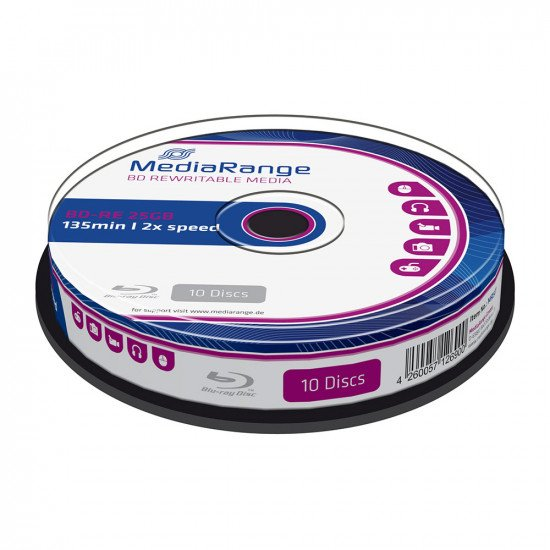 Mediarange Blu-ray vierge BD-RE 2x 25Go 10p.
