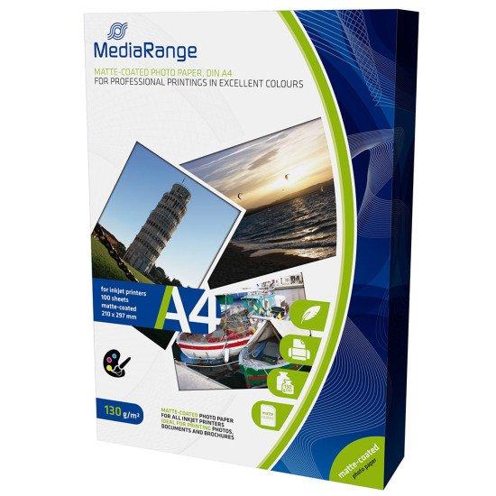 Mediarange papier photo mat A4 130g 100 feuilles
