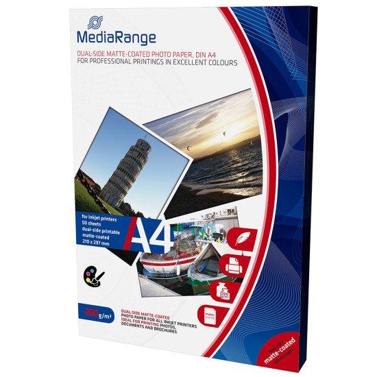 Mediarange papier photo double face mat A4 200g 50 feuilles