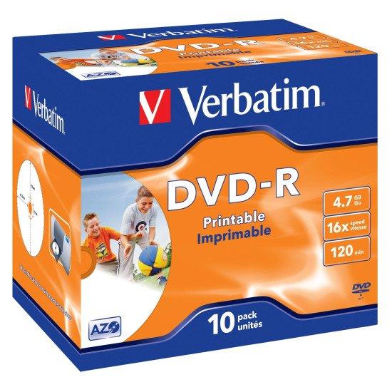 Verbatim DVD-R 4.7Go 16x imprimable 10p.