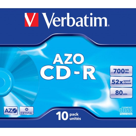 Verbatim CD-R AZO Crystal 10p.
