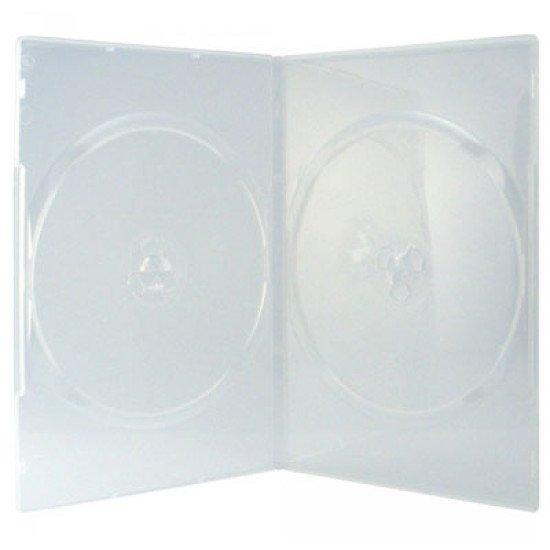 Boîtier 2 DVD slimcase transparent 10p.