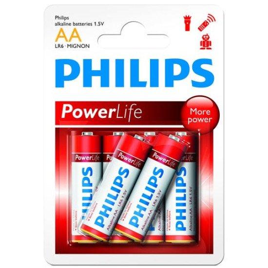 Philips piles alcalines LR06-AA 6p.
