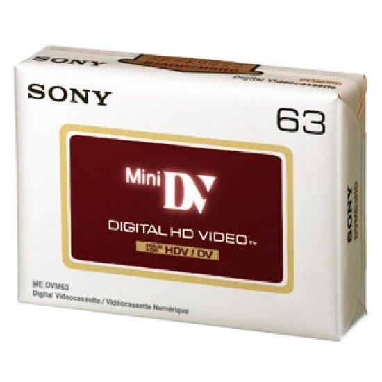Sony cassette HDV MiniDV 63 minutes.