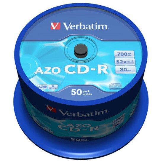 CD vierge Verbatim AZO crystal 700 Mo (boite de 50)