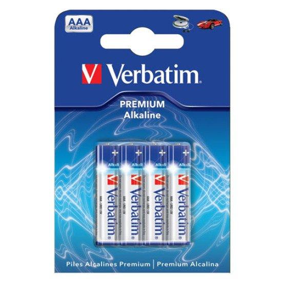Verbatim piles alcalines LR03-AAA 4p.