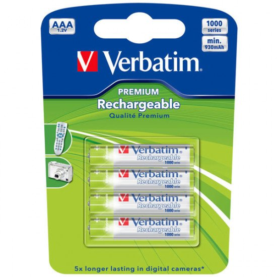 Verbatim piles rechargeables 930mAh aaa-LR03 4p.
