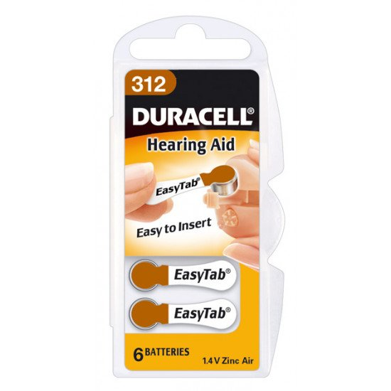Duracell pile auditive type 312 / PR312 6p.