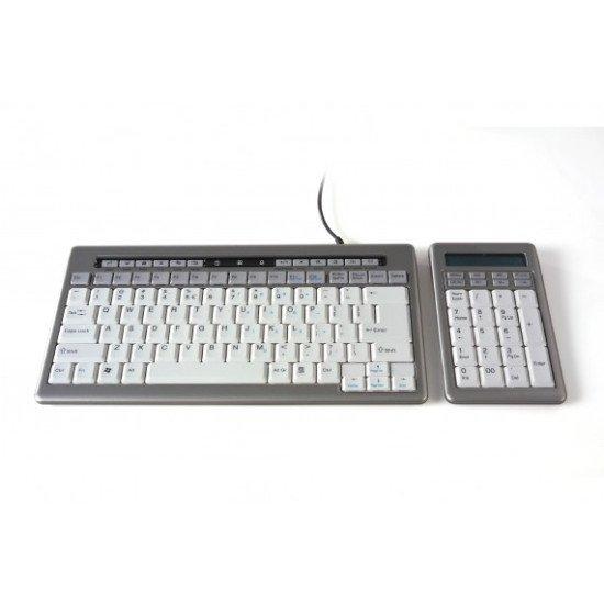 BakkerElkhuizen S-board 840 Clavier USB Gris AZERTY BE