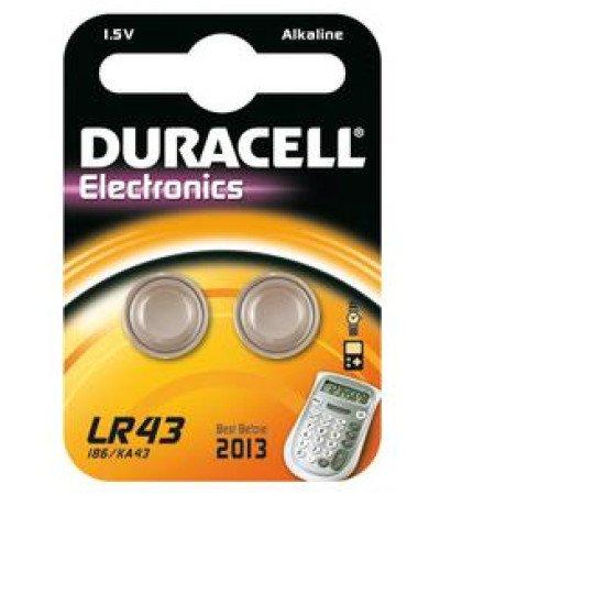 Duracell pile bouton LR43 2p.