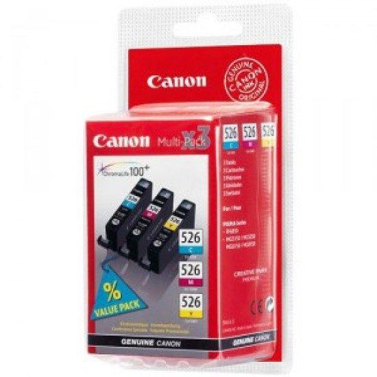 Canon CLI-526 C/M/Y Original Cyan, Magenta, Jaune 3 pièce(s)