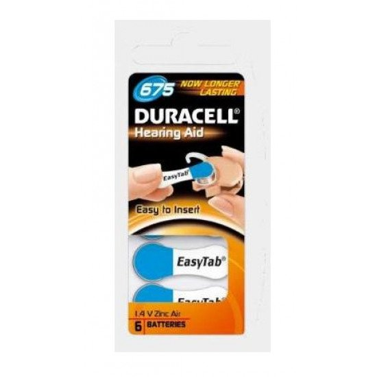 Duracell pile auditive type 675 / PR44 6p.