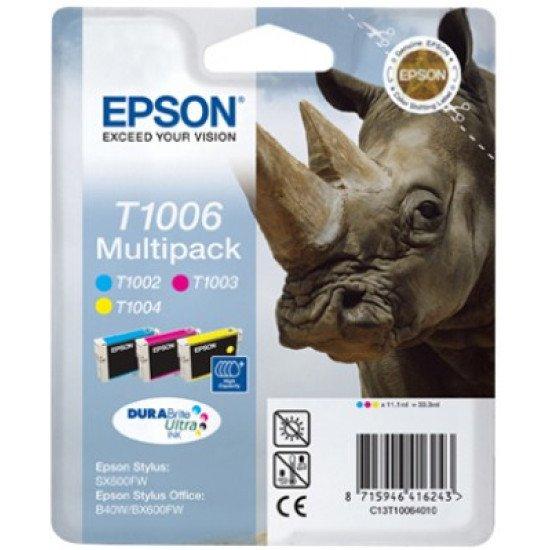 Epson T1006 Pack de 3 cartouches Cyan, Magenta, Jaune