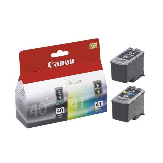 Canon PG-40 / CL-41 Pack de 2 cartouches / noir cyan magenta jaune.
