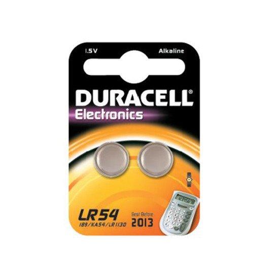 Duracell pile bouton LR54 2p.