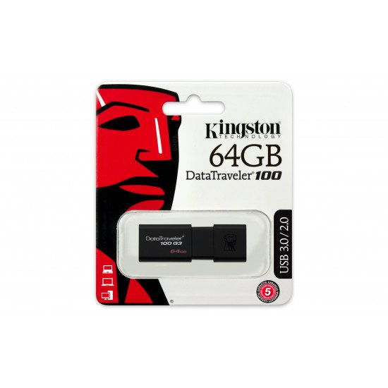 Kingston Technology DataTraveler 100 G3 lecteur USB flash 64 Go Type-A 3.0 (3.1 Gen 1)